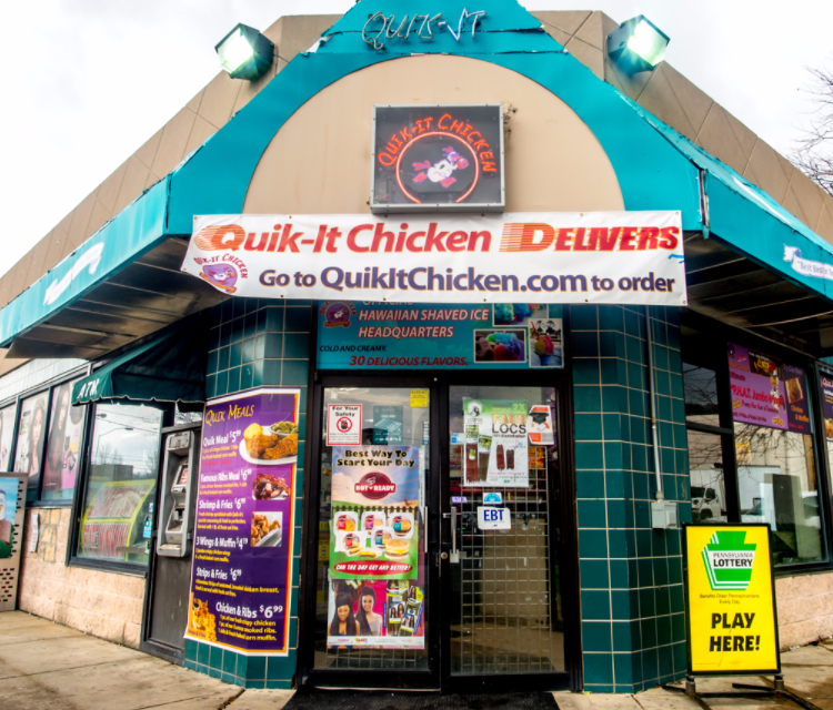 19 violations at Quik-It Chicken at Valero Fueland in Pittsburgh; Dead cockroaches found accumulated on various glue traps under equipment in the kitchen