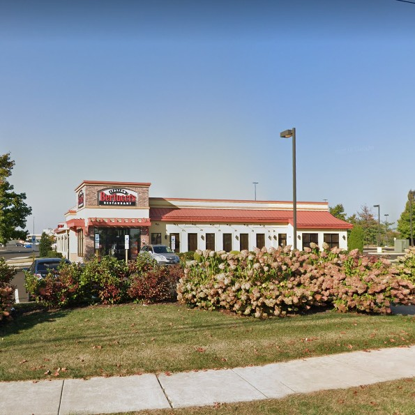 Montgomeryville Bertucci's fumbles inspection; 2 live roach like insects on cove base at ware washing and pizza area, fruit / drain fly like insects observed by trash can at front left wait staff area, 9 violations