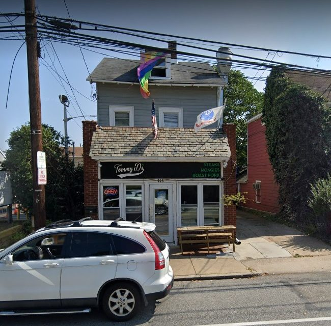 Tommy D's in Wyndmoor fumbles inspection; Rodent like droppings observed on floors in back prep/storage area