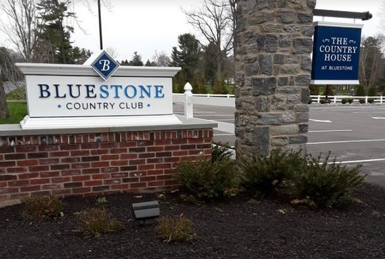 Bluestone Country Club in Blue Bell fumbles 8th inspection since Oct 2016 with 15 violations, food contact surface- Splash guard of ice machine unclean