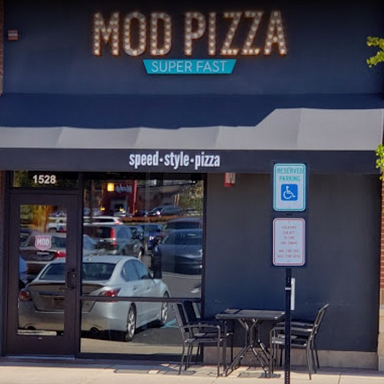 Inspection MOD Pizza in Warrington not dating opened foods, Food employee was observed wearing face covering improperly, with nose exposed