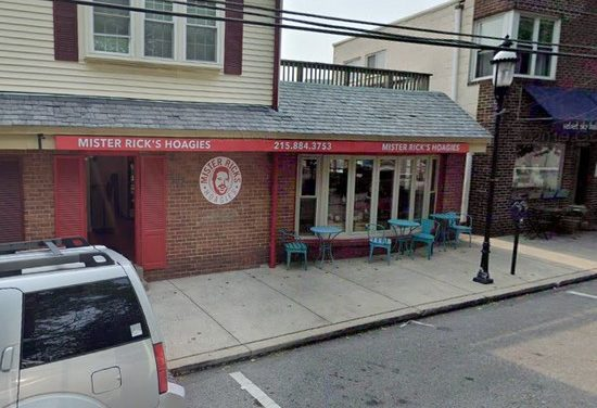 Inspection Mr Rick's in Jenkintown; 13 violations, Rodent-like droppings observed on shelving at counter area, Soap dispenser at hand wash sink empty