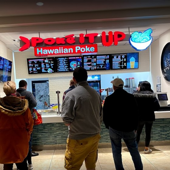 Poke It Up at King of Prussia Mall fouls inspection; 10 violations, Bleach bottles stored among food items