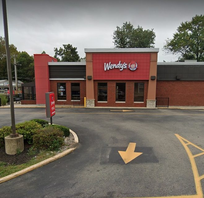Horsham Wendy's inspection; mold like accumulation on ice maker ceiling, Cut lettuce stored in container of standing water