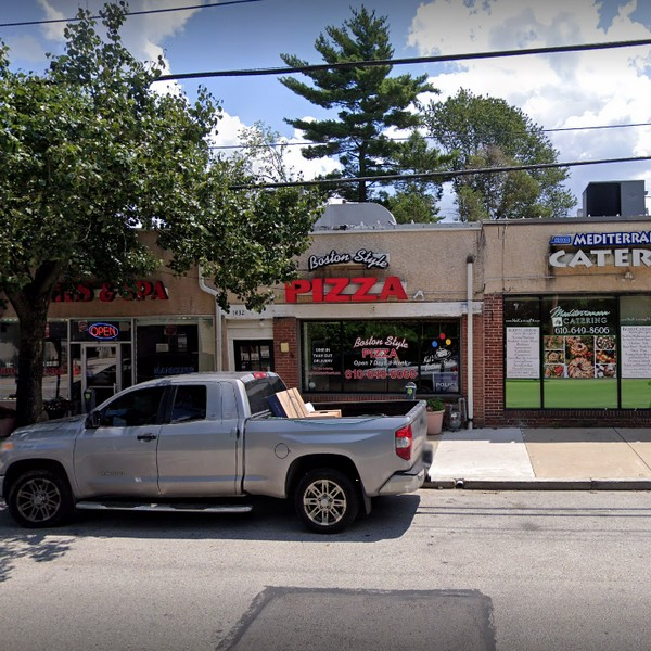 17 violations Boston Style Pizza in Wynnewood; hand wash sinks blocked with equipment/utensils, food stored on floor walk-in coolers