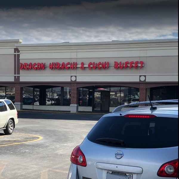 15 violations Dragon Hibachi Sushi Buffet Lancaster; Employees unable to wash hands properly- hot water turned off at hand sink, Observed old hardened food residue on the can opener blade