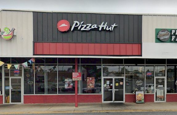 Whitehall Pizza Hut bumbles inspection; Ware washing equipment with build up of filth and food residue, areas the food facility is extremely dirty, dusty, moldy