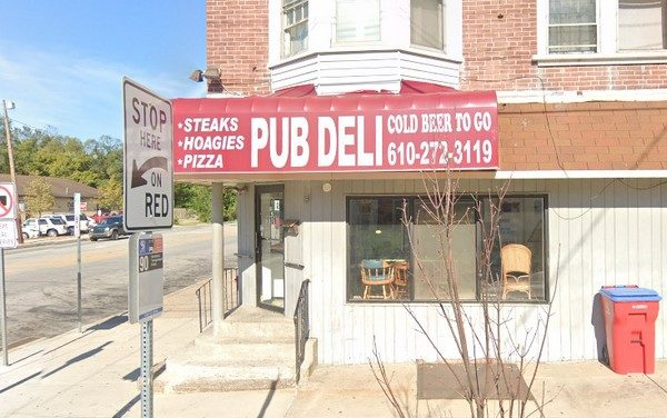 22 violations at Pub Deli in Norristown; Fly-like insects observed throughout facility, Ice cream scoop stored in stagnant water, Food debris build-up on food slicer
