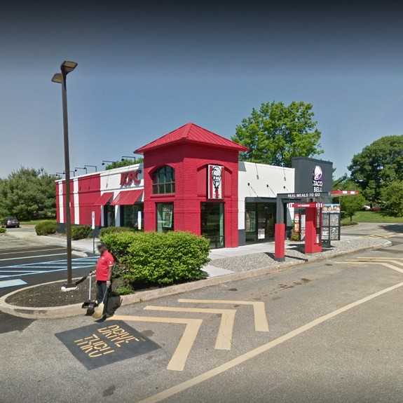 KFC/Taco Bell in West Whiteland fouls 4th inspection in a year; nozzles to slushy machine had visible debris on them inside and out. Nozzles must be cleaned daily