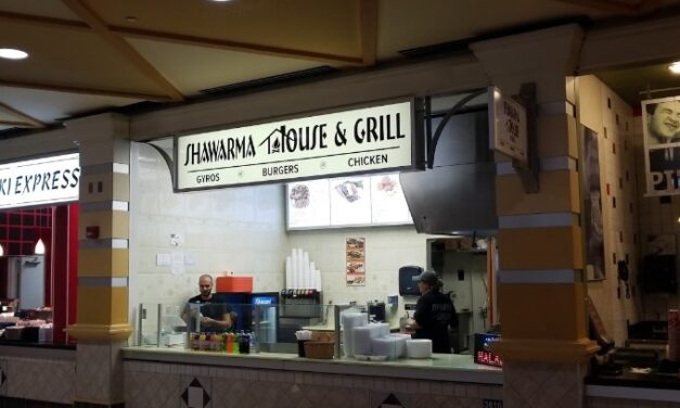 """Capital City Mall's Shawarma House & Grill inspection; """"Caked on thick black mildew like growth on interior parts of ice machine"""""""