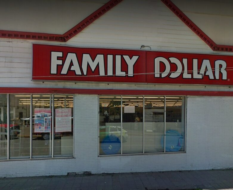 Mt Oliver Family Dollar inspection; Vacuumed pests, Old dried rat and mouse feces, German roaches bodies were found during re-inspection in mouse cages with glue boards