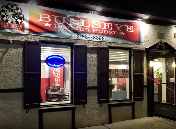 38 violations for Bullseye Burger House in Glenside; 4 times repeat Rodent-like droppings observed in area across from facility mop sink, around mop sink, and on floor under equipment and shelving in kitchen areas