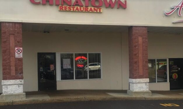 16 violations at Chinatown in Hatfield; Soiled aprons and clothing stored storage shelves with food, Soiled toilet in employee toilet room in kitchen