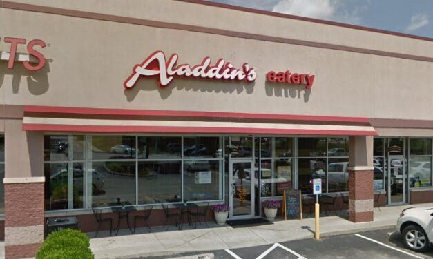 Aladdin's Eatery McMurray fouls inspection' ice machine, a food contact surface, with large accumulation of black slime residue and not clean to the sight or touch